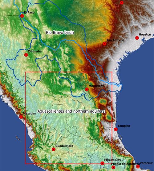 Rio Bravo Mexico Map.Rio Bravo