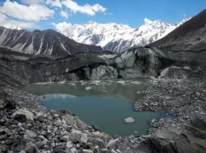 A nice example of a supraglacial lake