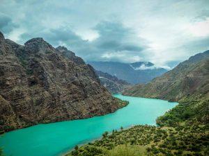 Toktogul reservoir, Kyrgyzstan