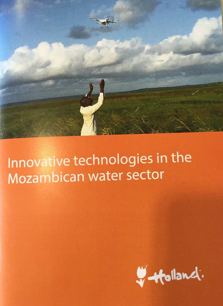 Het ThirdEye project prijkt op de voorkant voor het booklet met innovatieve technologieën voor de watersector in Mozambique.