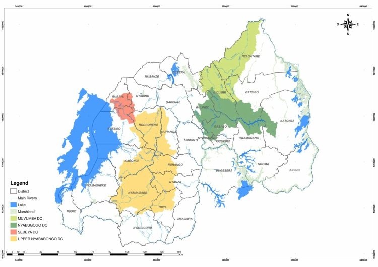Demonstration catchments of Water for Growth Rwanda